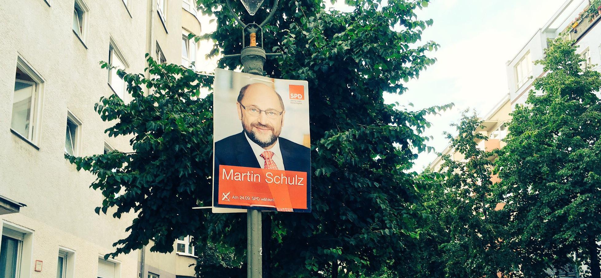 Cartel electoral Martin Schulz